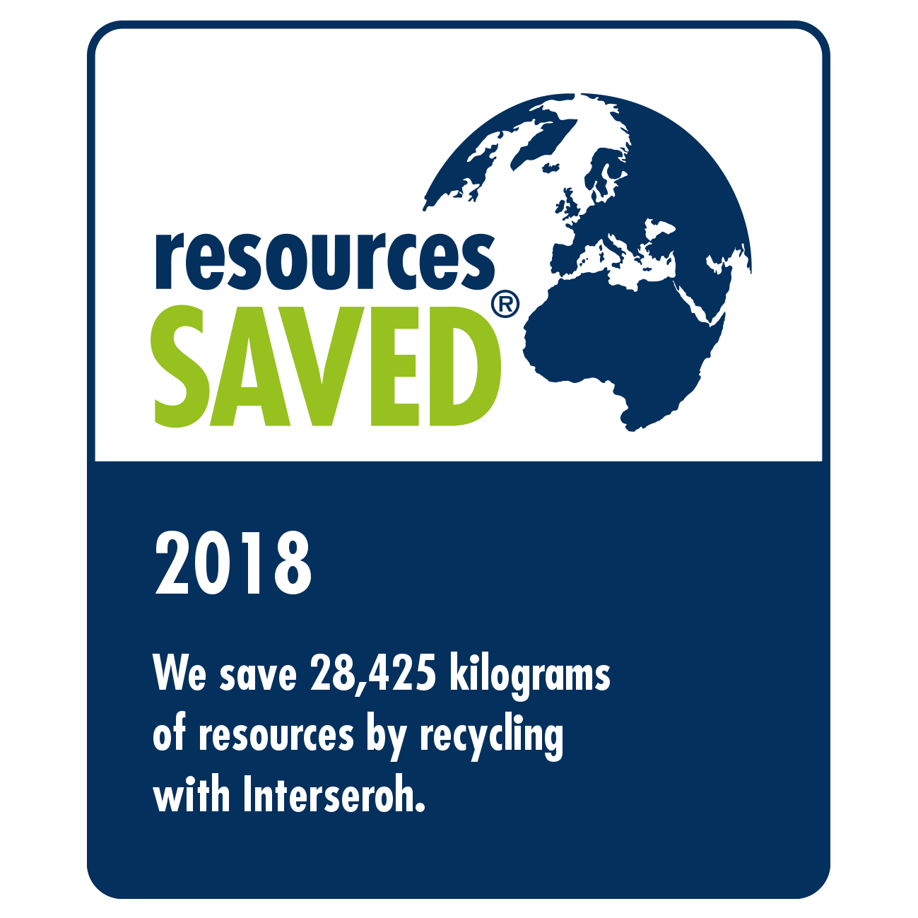 2018 - Saved resources by recycling