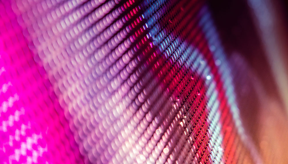 Illustration: CloseUp LED blurred screen