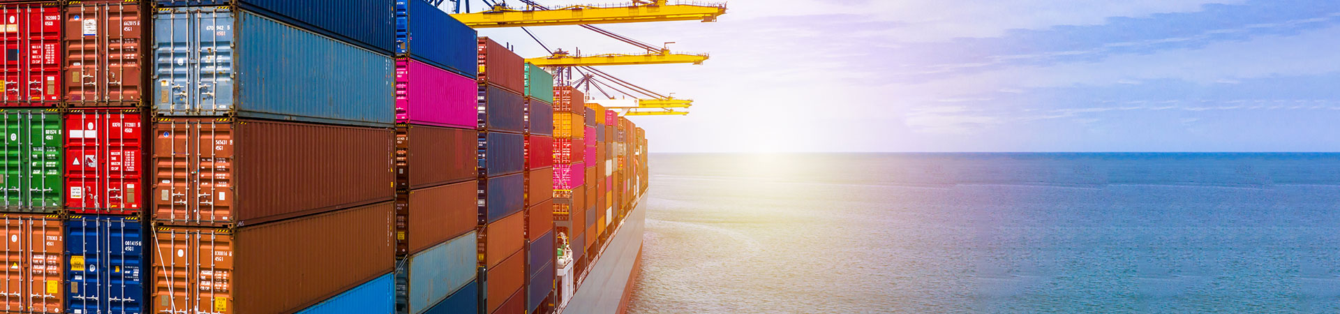 Banner showing Sea Freight with Vessel Container
