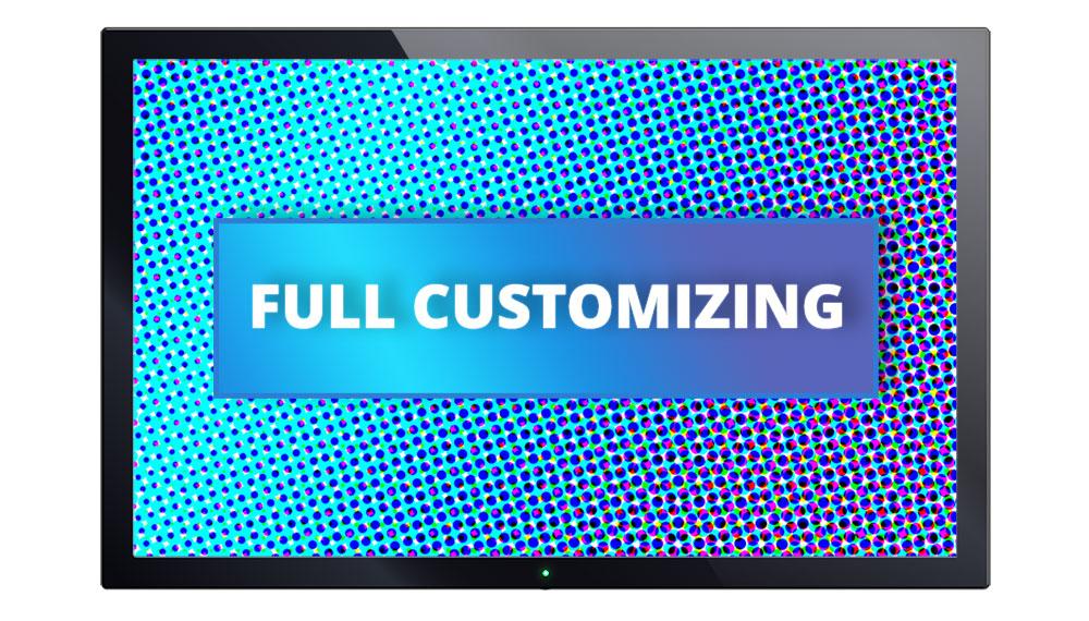 Image of Display indicating Full-Customizing