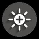 Icon grey circle: HighBright