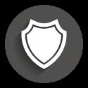 Icon grey circle: IP- Protect